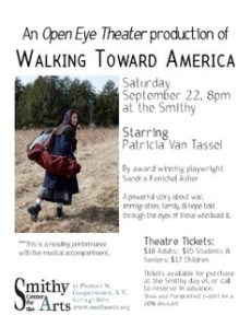 walking toward america poster